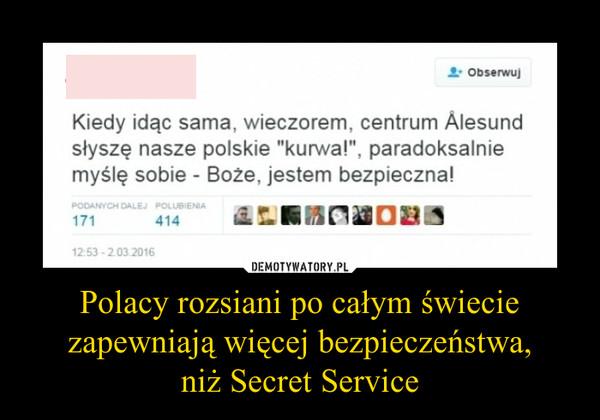 Polacy rozsiani po całym świecie zapewniają więcej bezpieczeństwa,niż Secret Service –