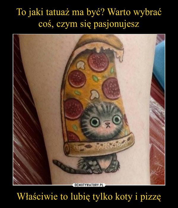 Właściwie to lubię tylko koty i pizzę –