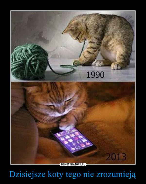 Dzisiejsze koty tego nie zrozumieją –