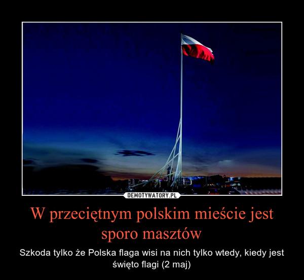 W przeciętnym polskim mieście jest sporo masztów – Szkoda tylko że Polska flaga wisi na nich tylko wtedy, kiedy jest święto flagi (2 maj)