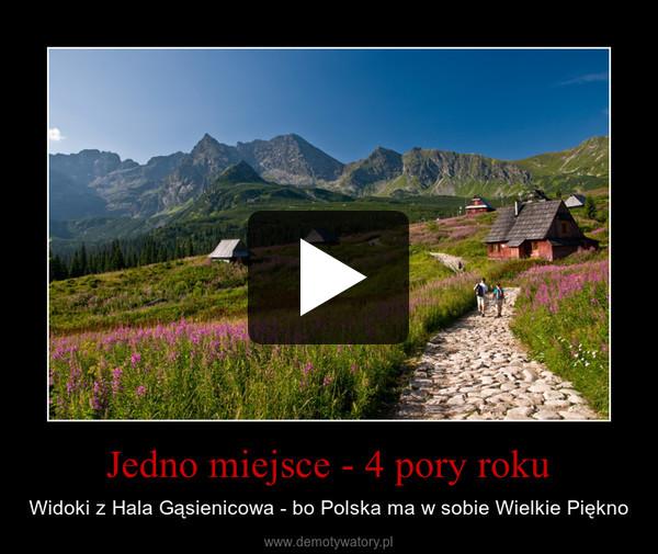 Jedno miejsce - 4 pory roku – Widoki z Hala Gąsienicowa - bo Polska ma w sobie Wielkie Piękno