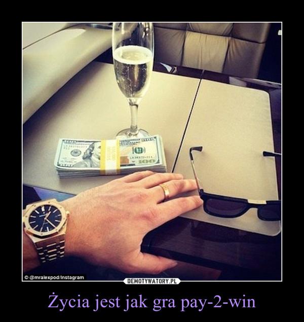 Życia jest jak gra pay-2-win –