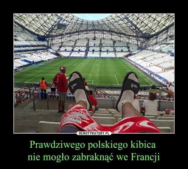 Prawdziwego polskiego kibica nie mogło zabraknąć we Francji –