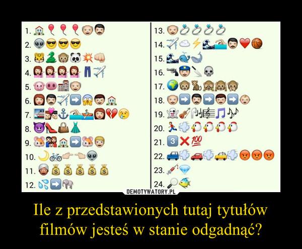 Ile z przedstawionych tutaj tytułów filmów jesteś w stanie odgadnąć? –