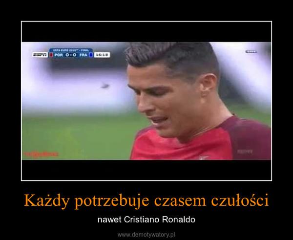 Każdy potrzebuje czasem czułości – nawet Cristiano Ronaldo