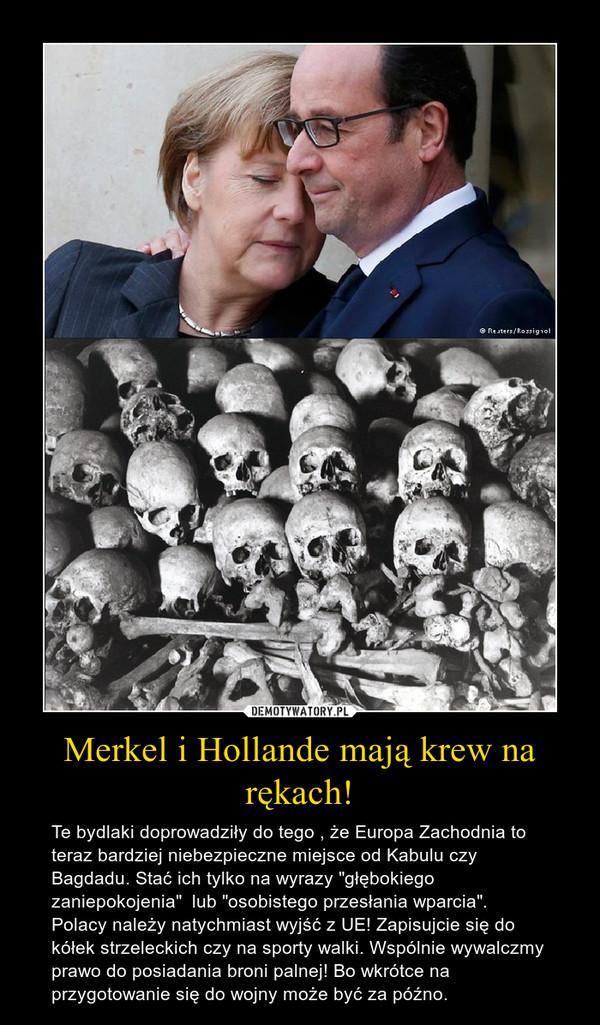 """Merkel i Hollande mają krew na rękach! – Te bydlaki doprowadziły do tego , że Europa Zachodnia to teraz bardziej niebezpieczne miejsce od Kabulu czy Bagdadu. Stać ich tylko na wyrazy """"głębokiego zaniepokojenia""""  lub """"osobistego przesłania wparcia"""". Polacy należy natychmiast wyjść z UE! Zapisujcie się do kółek strzeleckich czy na sporty walki. Wspólnie wywalczmy prawo do posiadania broni palnej! Bo wkrótce na przygotowanie się do wojny może być za późno."""