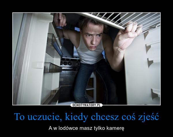 To uczucie, kiedy chcesz coś zjeść – A w lodówce masz tylko kamerę
