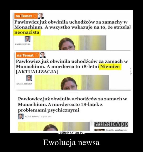 Ewolucja newsa –