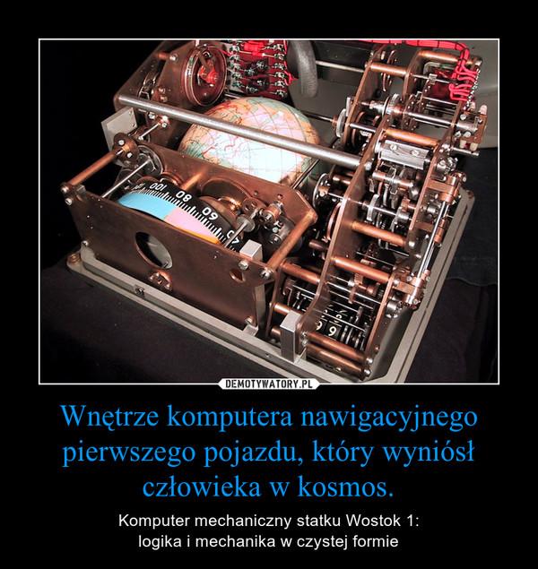 Wnętrze komputera nawigacyjnego pierwszego pojazdu, który wyniósł człowieka w kosmos. – Komputer mechaniczny statku Wostok 1:logika i mechanika w czystej formie