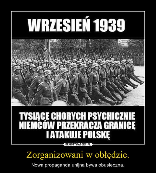 Zorganizowani w obłędzie. – Nowa propaganda unijna bywa obusieczna.