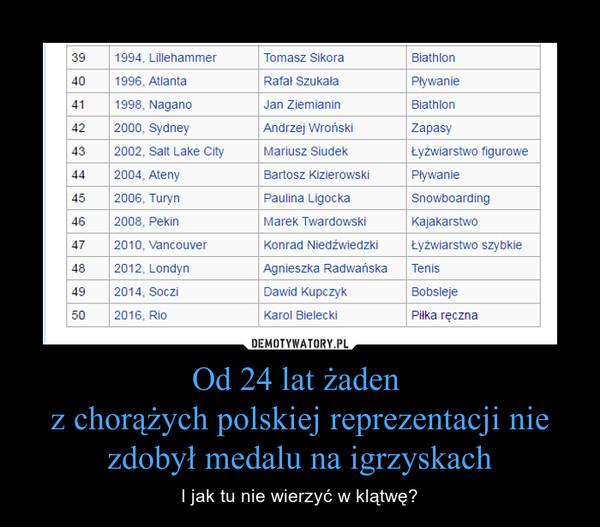Od 24 lat żaden z chorążych polskiej reprezentacji nie zdobył medalu na igrzyskach – I jak tu nie wierzyć w klątwę?