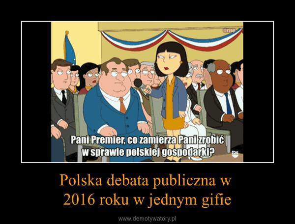 Polska debata publiczna w 2016 roku w jednym gifie –