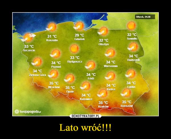 Lato wróć!!! –