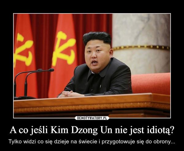 A co jeśli Kim Dzong Un nie jest idiotą? – Tylko widzi co się dzieje na świecie i przygotowuje się do obrony...