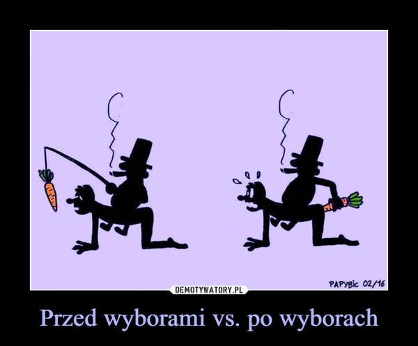 Przed wyborami vs. po wyborach –