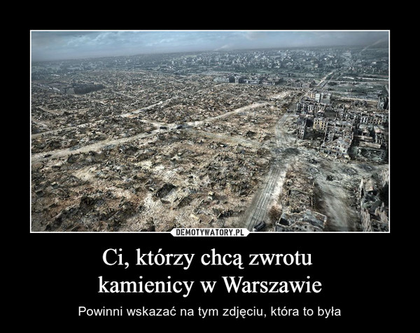 Ci, którzy chcą zwrotu kamienicy w Warszawie – Powinni wskazać na tym zdjęciu, która to była