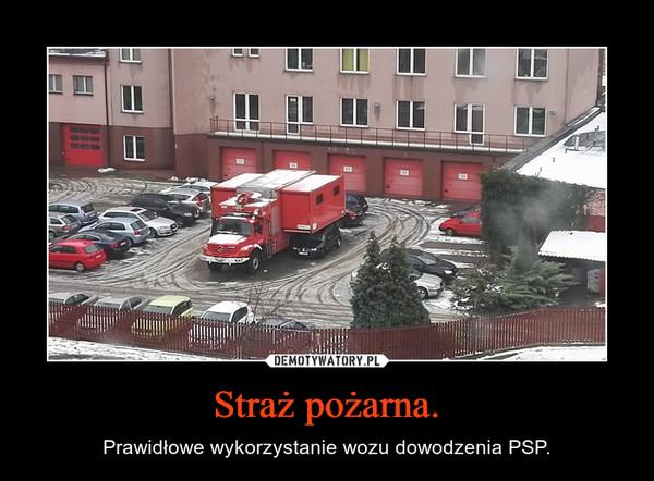 Straż pożarna. – Prawidłowe wykorzystanie wozu dowodzenia PSP.