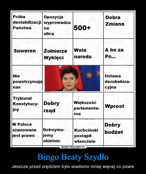Bingo Beaty Szydło – Jeszcze przed orędziem było wiadomo mniej więcej co powie