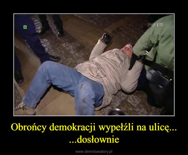 Obrońcy demokracji wypełźli na ulicę... ...dosłownie –
