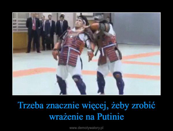 Trzeba znacznie więcej, żeby zrobić wrażenie na Putinie –