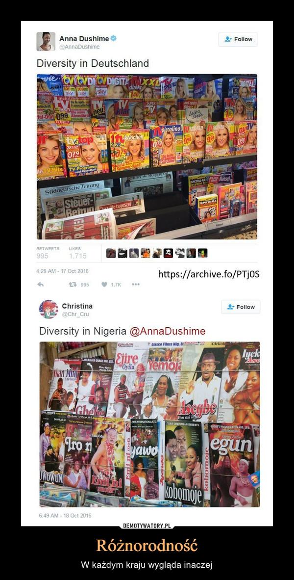 Różnorodność – W każdym kraju wygląda inaczej