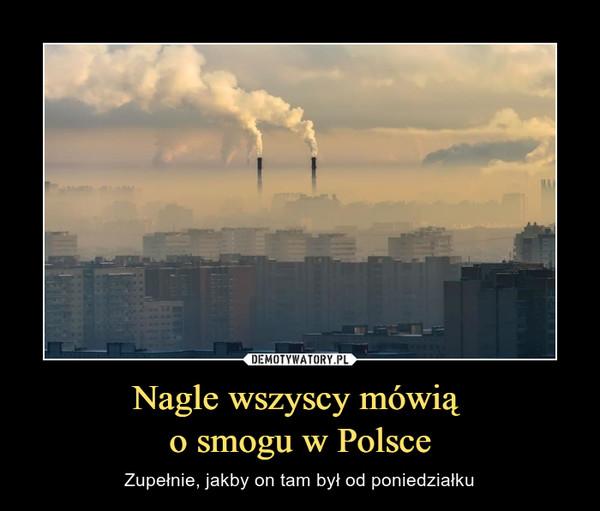 Nagle wszyscy mówią o smogu w Polsce – Zupełnie, jakby on tam był od poniedziałku