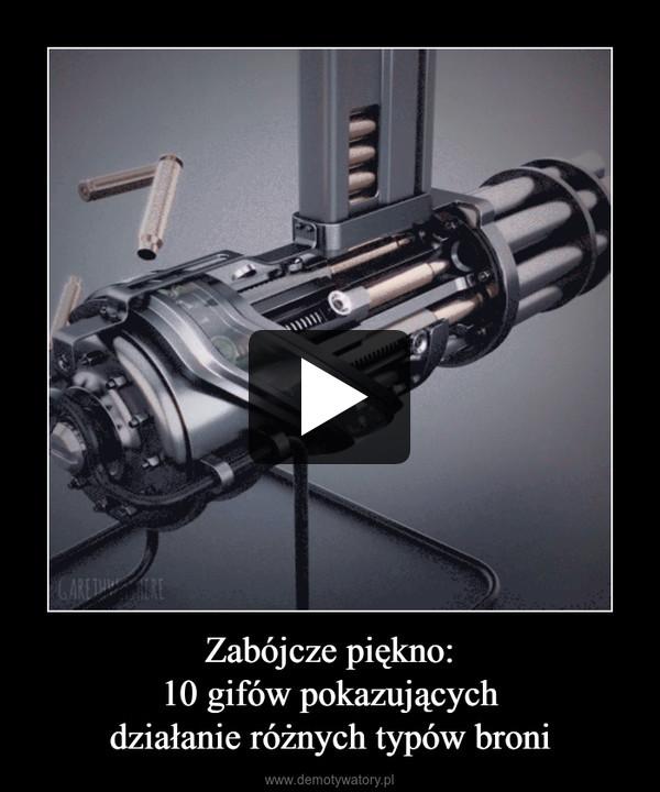 Zabójcze piękno:10 gifów pokazującychdziałanie różnych typów broni –