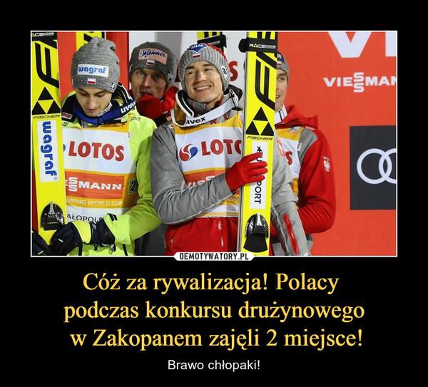 Cóż za rywalizacja! Polacy podczas konkursu drużynowego w Zakopanem zajęli 2 miejsce! – Brawo chłopaki!