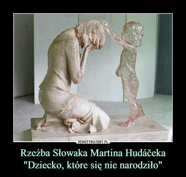 """Rzeźba Słowaka Martina Hudáčeka""""Dziecko, które się nie narodziło"""" –"""