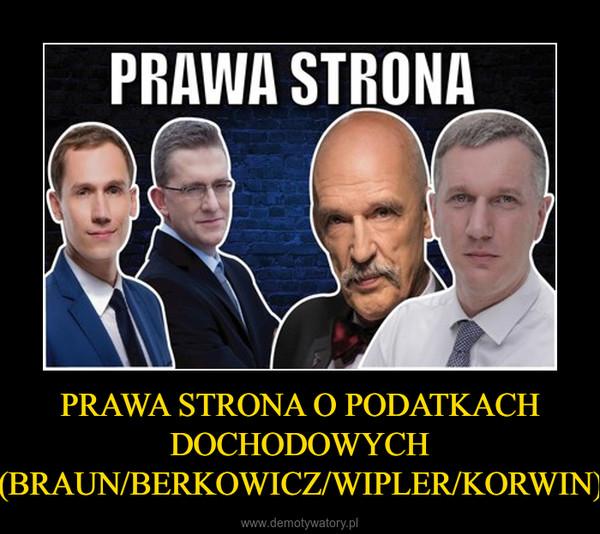 PRAWA STRONA O PODATKACH DOCHODOWYCH (BRAUN/BERKOWICZ/WIPLER/KORWIN) –