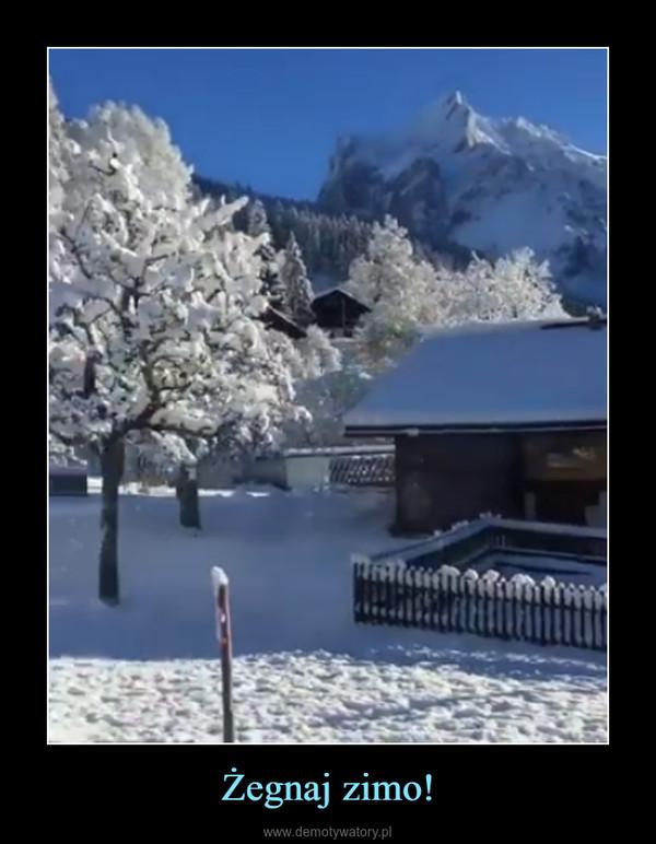 Żegnaj zimo! –
