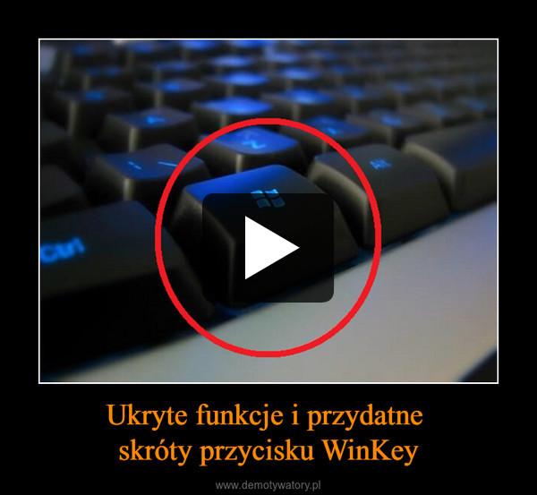 Ukryte funkcje i przydatne skróty przycisku WinKey –