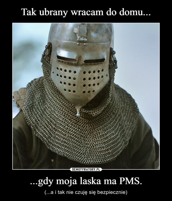 ...gdy moja laska ma PMS. – (...a i tak nie czuję się bezpiecznie)