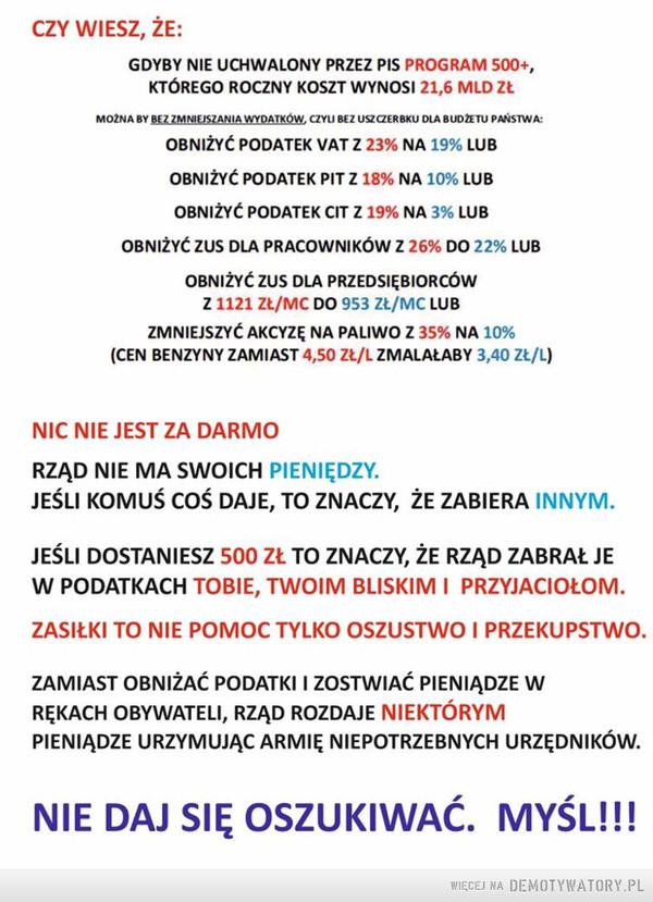 Rząd nie ma swoich pieniędzy – Rząd nie ma swoich pieniędzy