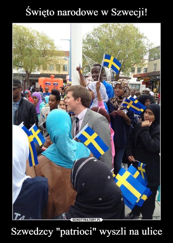 """Szwedzcy """"patrioci"""" wyszli na ulice –"""