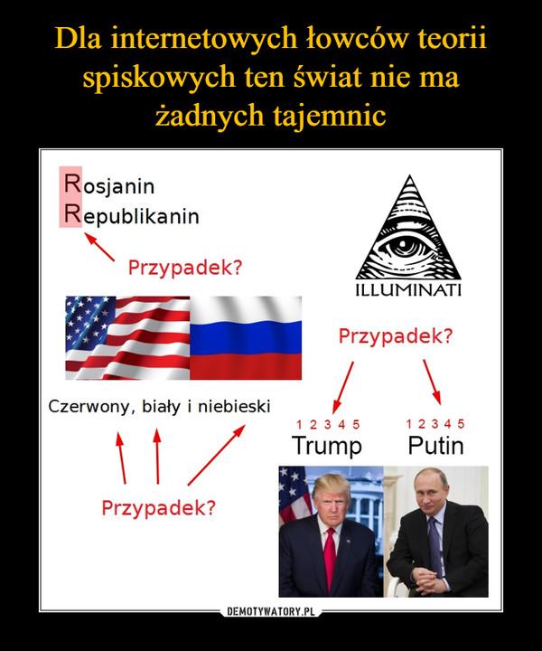 –  Rosjanin Republikanin Przypadek ILLUMINATI czerwony biały i niebieski Trump Putin 12345