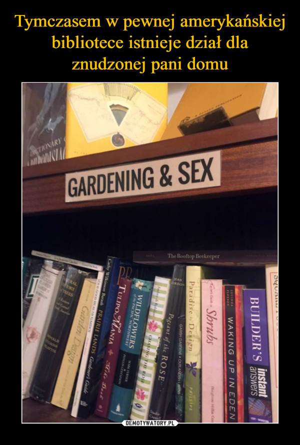 –  GARDENING & SEX
