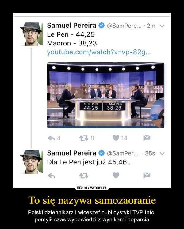 To się nazywa samozaoranie – Polski dziennikarz i wiceszef publicystyki TVP Info pomylił czas wypowiedzi z wynikami poparcia