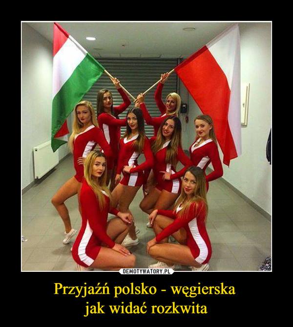 Przyjaźń polsko - węgierska jak widać rozkwita –