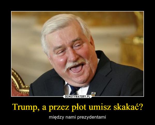 Trump, a przez płot umisz skakać? – między nami prezydentami