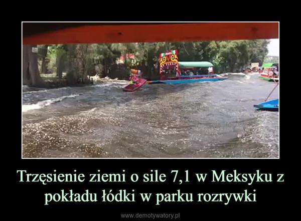 Trzęsienie ziemi o sile 7,1 w Meksyku z pokładu łódki w parku rozrywki –