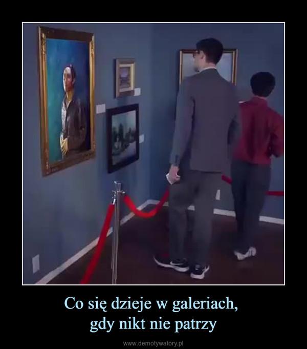 Co się dzieje w galeriach, gdy nikt nie patrzy –