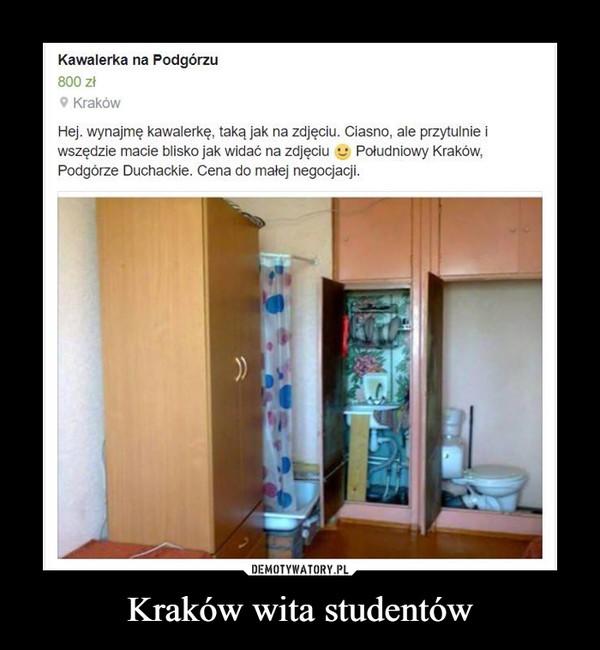 Kraków wita studentów –  Kawalerka na Podgórzu 800 zł Kraków Hej, wynajmę kawalerkę, taką jak na zdjęciu. Ciasno, ale przytulnie i wszędzie macie blisko jak widać na zdjęciu Południowy Kraków, Podgórze Duchackie. Cena do negocjacji