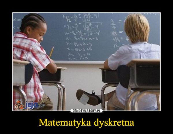 Matematyka dyskretna –