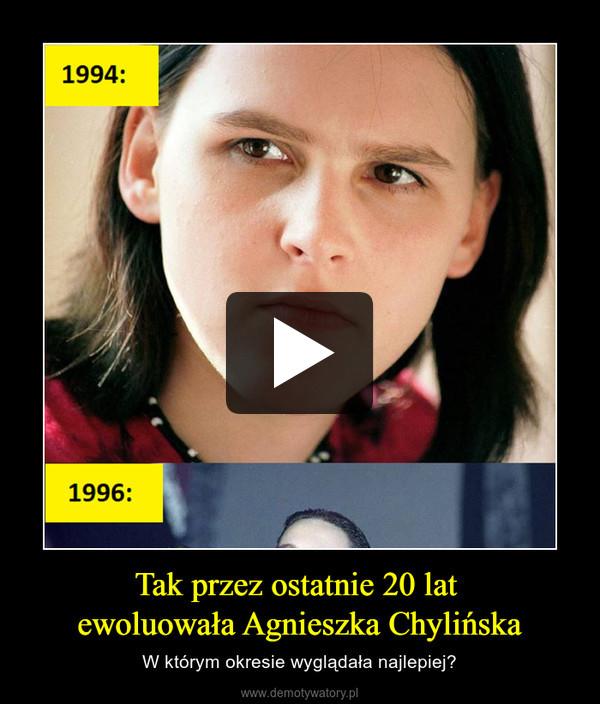 Tak przez ostatnie 20 lat ewoluowała Agnieszka Chylińska – W którym okresie wyglądała najlepiej?