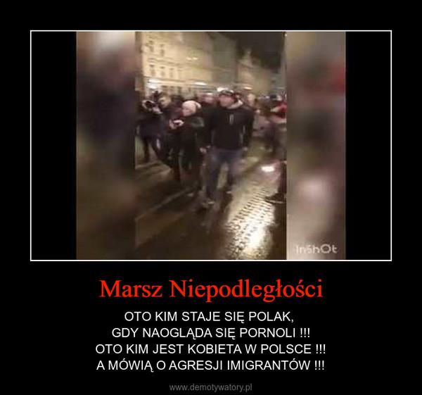 Marsz Niepodległości – OTO KIM STAJE SIĘ POLAK, GDY NAOGLĄDA SIĘ PORNOLI !!!OTO KIM JEST KOBIETA W POLSCE !!!A MÓWIĄ O AGRESJI IMIGRANTÓW !!!