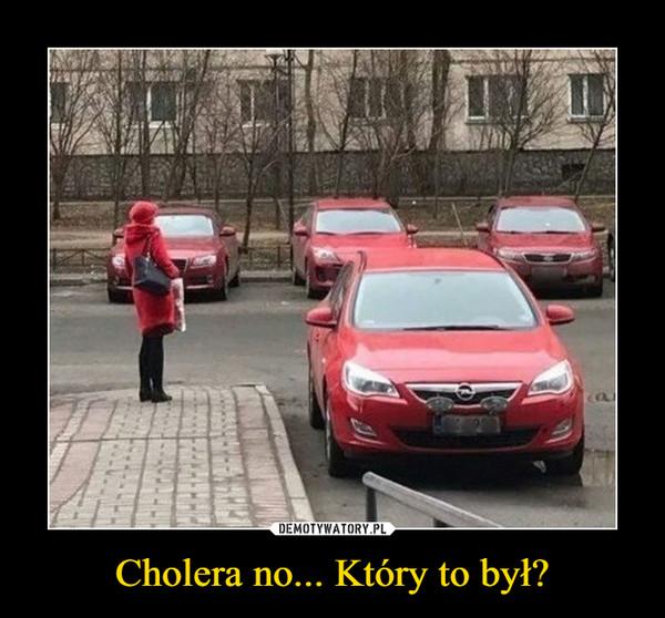 Cholera no... Który to był? –