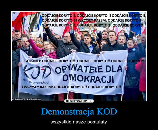 Demonstracja KOD – wszystkie nasze postulaty