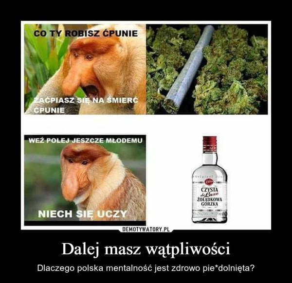 Dalej masz wątpliwości – Dlaczego polska mentalność jest zdrowo pie*dolnięta?