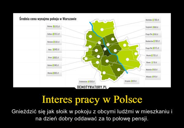Interes pracy w Polsce – Gnieździć się jak słoik w pokoju z obcymi ludźmi w mieszkaniu i na dzień dobry oddawać za to połowę pensji.